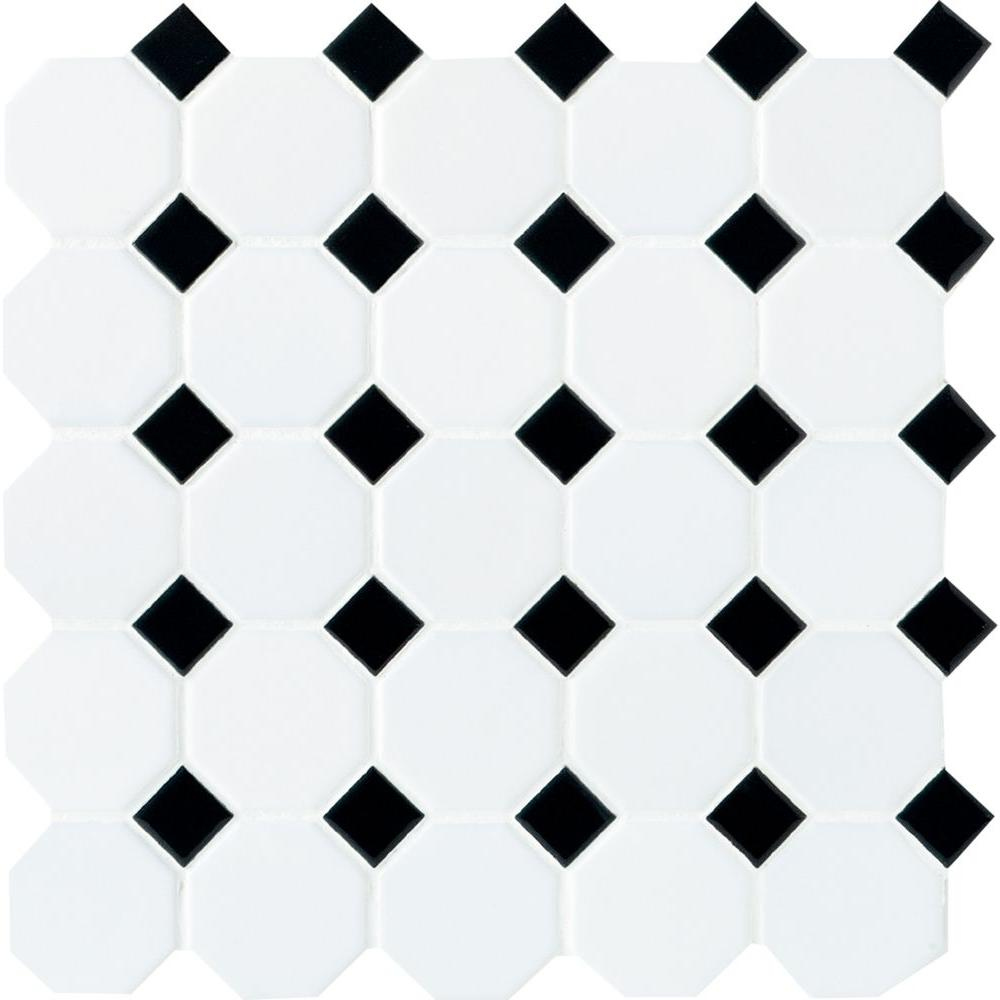 Smartly Black Dot X Daltile Octagon Tile Game Black Dot X X Black Daltile Octagon Tile Meaning Black Dot Matte Dot Matte houzz 01 Black And White Tile