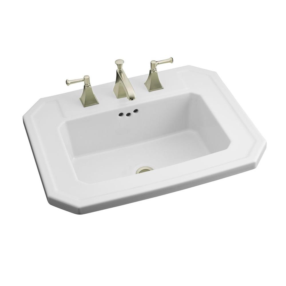 Serene Kohler Drop Bathroom Sink Vs Undermount Bathroom Sinks K 2325 8 0 64 1000 Drop Bathroom Sinks At Home Depot Drop houzz 01 Drop In Bathroom Sinks