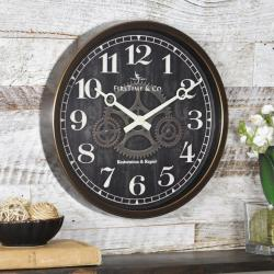 Small Crop Of Wall Clock Industrial