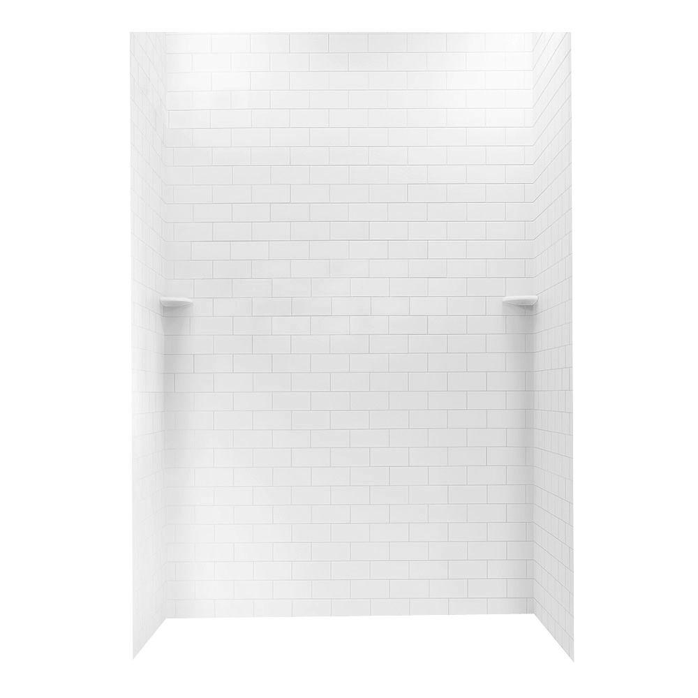 Enticing Where To Buy Solid Surface Shower Wall Panels Solid Surface Shower Wall Panels Canada Solid Surface X X Solid Surface Subway Tile Easy Up Adhesivealcove Shower Surround houzz-03 Solid Surface Shower Wall Panels