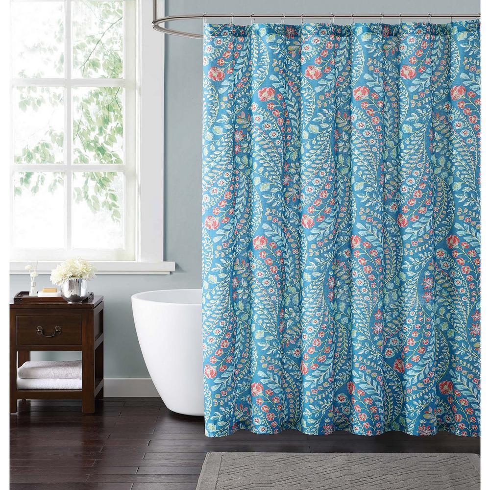 Fullsize Of Teal Shower Curtain