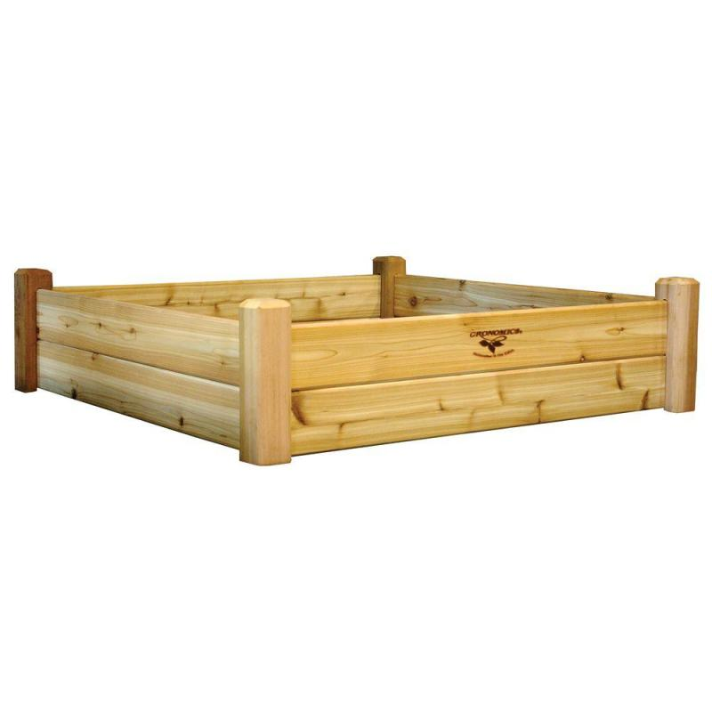 Swish Western Red Cedar Unfinished Gronomics Raised Garden Beds Rgb 48 48 64 1000 Home Depot Vegetable Garden Box