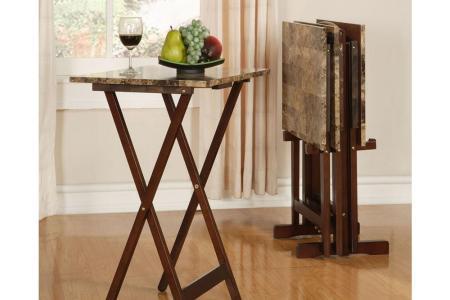 brown linon home decor folding tables chairs 43001tilset 01 as 64 1000