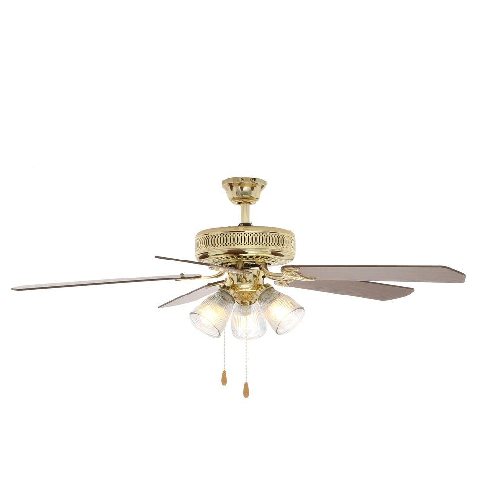 Salient Polished Brass Ceiling Fan Light Kit Hampton Bay Landmark Polished Brass Ceiling Fan Ceiling Fan Wobble Safe Ceiling Fan Wobbles Clicks houzz-03 Ceiling Fan Wobble