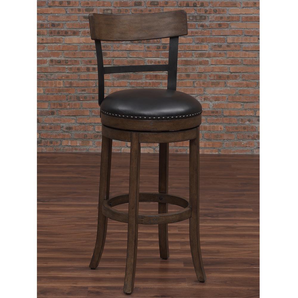 Modern Washed Brown Swivel Tall Bar Stool American Woodcrafters Taranto Washed Brown Swivel Bar Stool Swivel Bar Stools Outdoor Swivel Bar Stools Backs houzz-02 Swivel Bar Stools