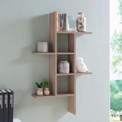 Flossy Cantilever Weared Oak Mdf Floating Wall Shelf Lewis Hyman W X D X H Espresso Mdf Large Floating Wall Mounted Bookshelf