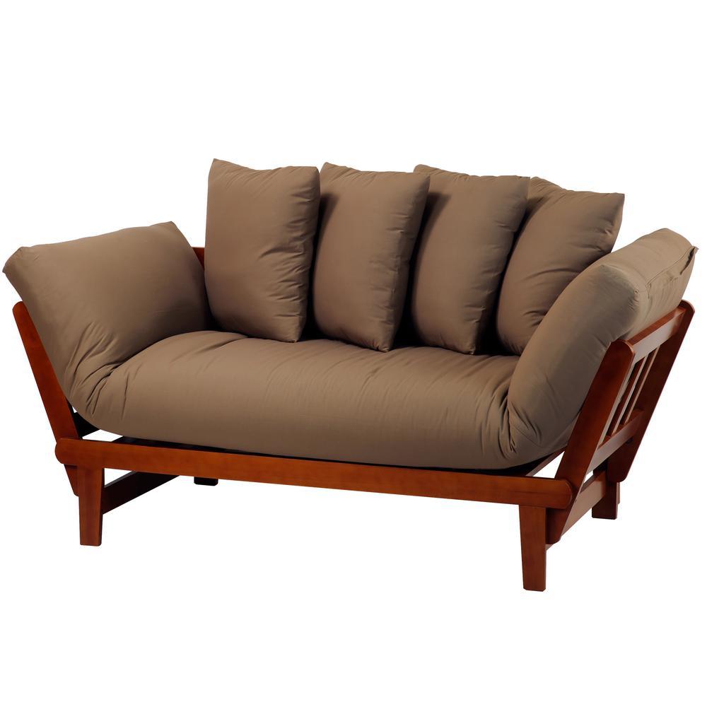 Beautiful Khaki Fabric Lounger Sofa Bed Chaise Lounge Living Room Furniture Furniture Home Depot Chaise Lounge Sofa Big Lots Chaise Lounge Sofa Casual Oak Frame Two houzz 01 Chaise Lounge Sofa