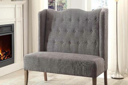brushed gray wash linon home decor sofas loveseats 368273gry01u 64 1000