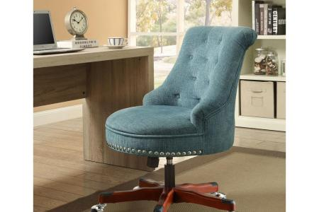brown walnut linon home decor office chairs 178403aqua01u 64 1000