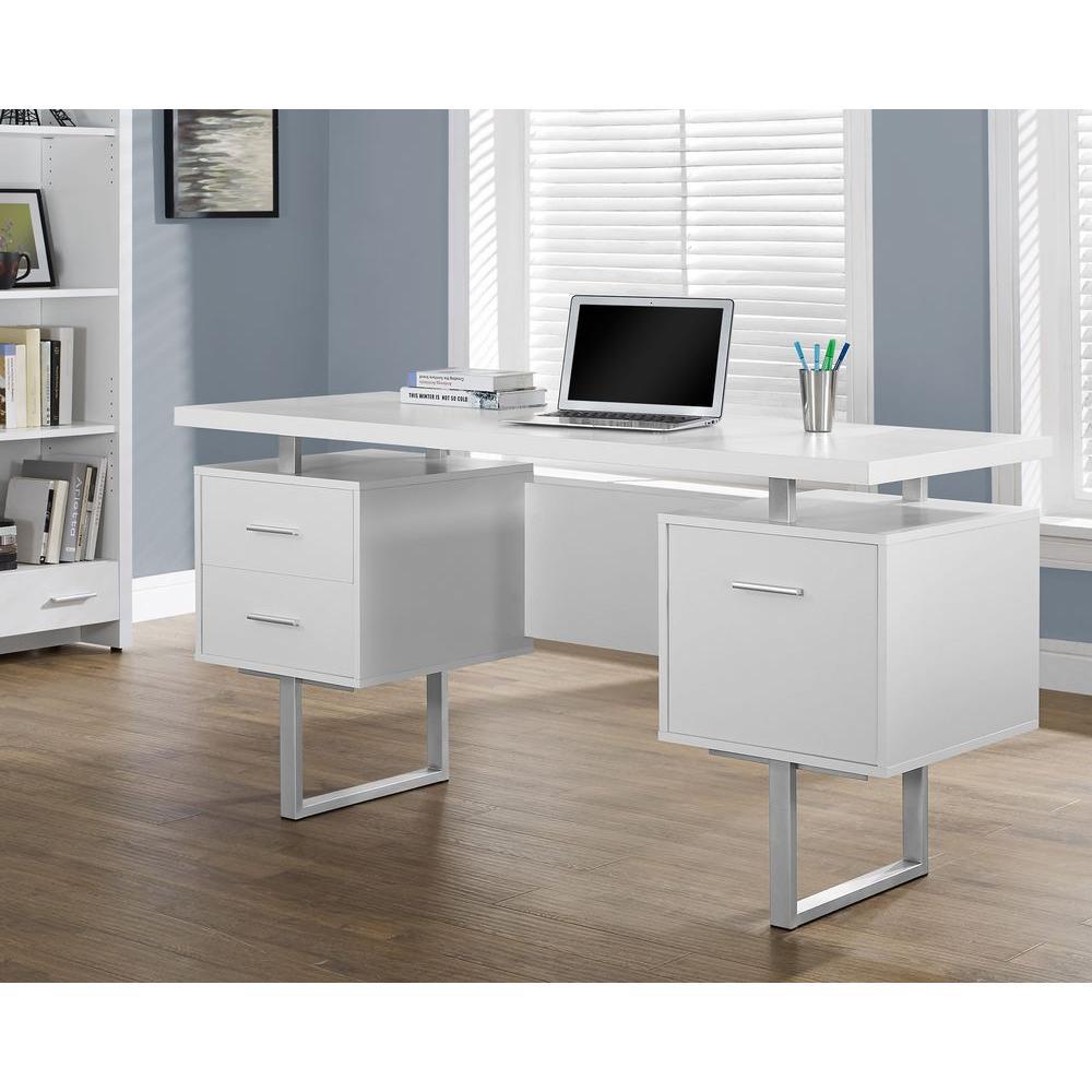 Peachy Monarch Ties Desk Home Depot Computer Desk Keyboard Drawer Printer Shelf Computer Desk Drawers Monarch Ties Desk houzz-02 White Computer Desk