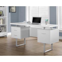 Small Crop Of White Computer Desk