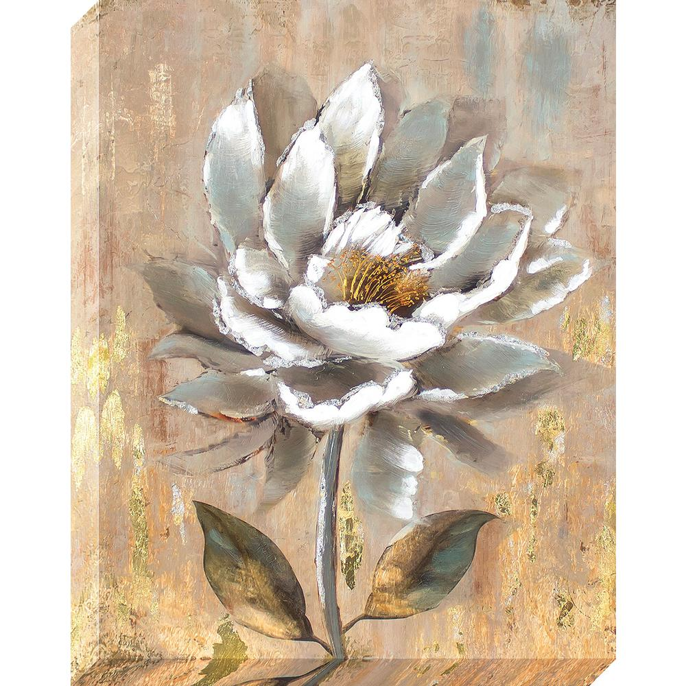 Snazzy Aged Flower Oil Painted Canvas Wall Decor Rapy X Aged Flower Oil Painted Canvas Flower Oil Target Flower Oil Near Me houzz-03 White Flower Oil