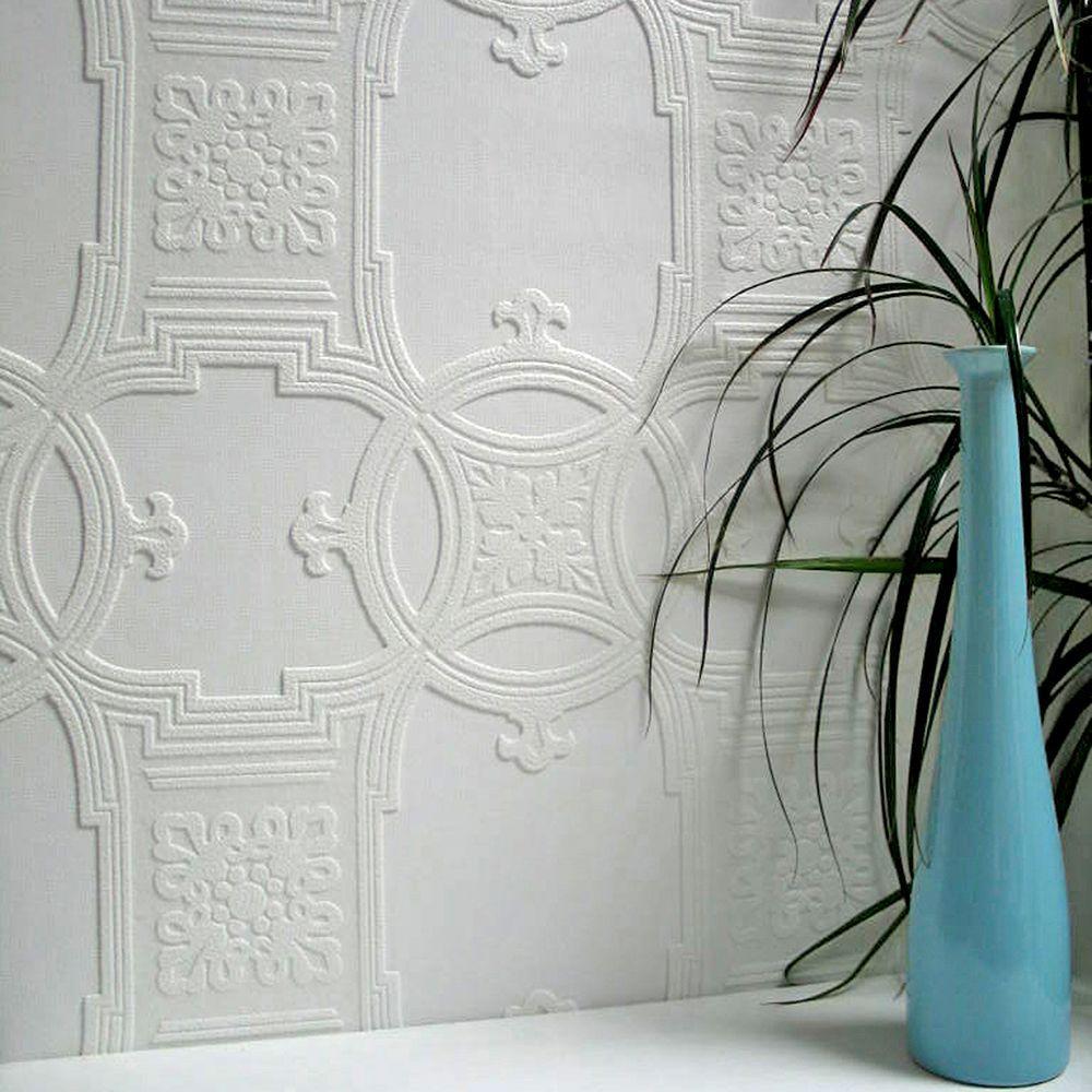 Unusual Anaglypta Early Victorian Paintable Textured Vinyl Wallpaper Textured Wallpaper Paintable Textured Wallpaper Squares Paintable Textured Wallpaper B Q houzz-02 Paintable Textured Wallpaper