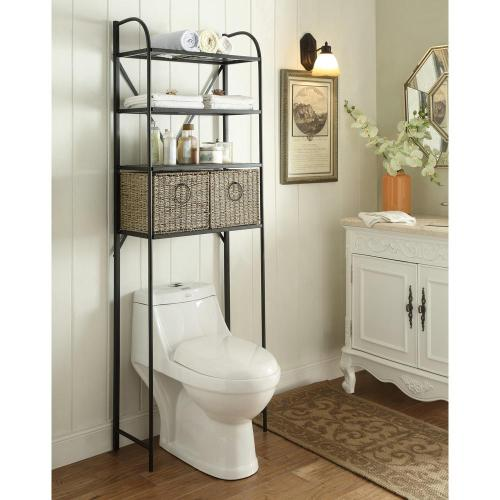 Medium Of Bathroom Shelves Over Toilet