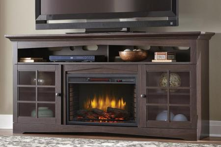 espresso home decorators collection fireplace tv stands 365 187 48 y 64 1000