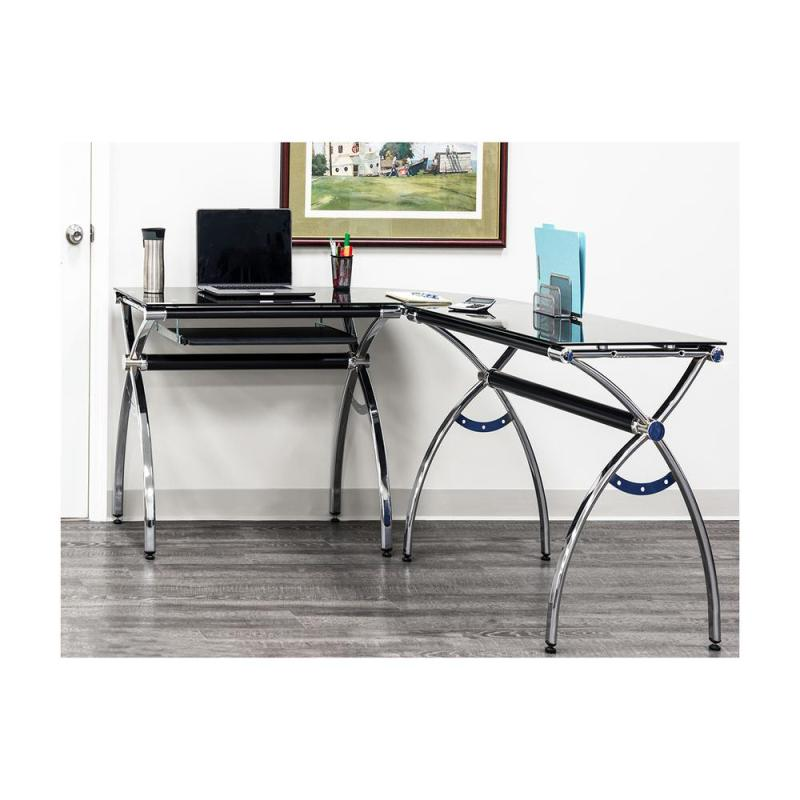 Large Of Glass Corner Desk