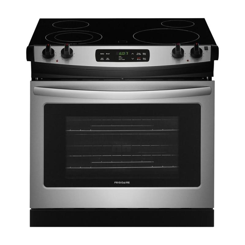 Witching Stove Vs Freestanding Stove Sale Drop Stainless Steel Frigidaire Single Oven Electric Ranges Ffed3026ts 64 1000 Drop