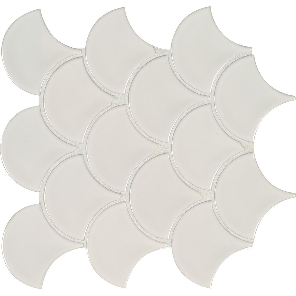 Fascinating Msi Glossy Fish Scale X X Mm Porcelain Msi Glossy Fish Scale X X Mm Porcelain Fish Scale Tile Decor Fish Scale Tiles Australia houzz-02 Fish Scale Tile
