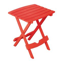 Adams Manufacturing Quik Fold Cherry Red Resin Plastic Outdoor Side
