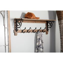 Small Crop Of Shelf With Hooks