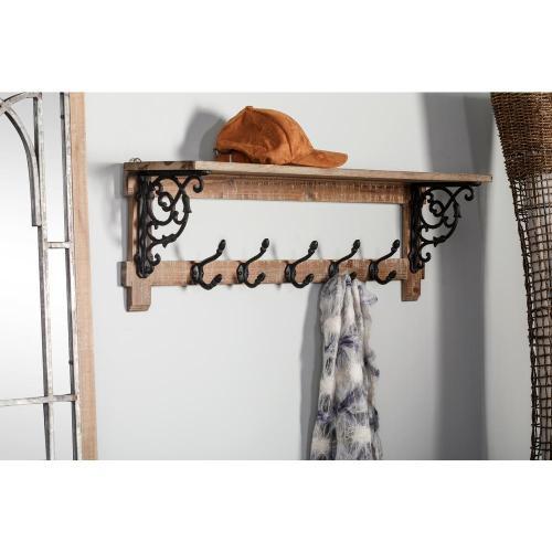 Medium Crop Of Shelf With Hooks