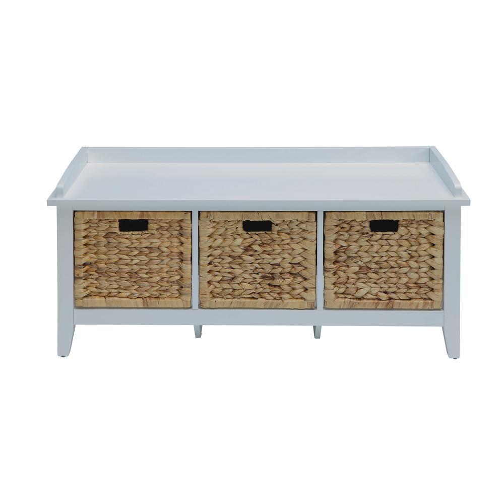 Fullsize Of White Storage Bench