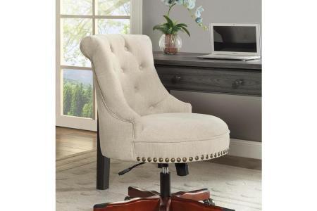 walnut brown linon home decor office chairs 178403nat01u 64 1000