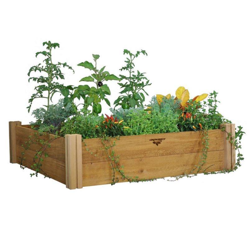Multipurpose Western Red Cedar Unfinished Gronomics Raised Garden Beds Mrgb 2l 48 48 64 1000 Home Depot Vegetable Garden Box