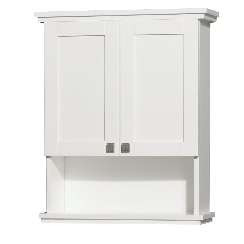 Lovely Wyndham Collection Acclaim W X H X Wyndham Collection Acclaim W X H X D Wall Shelf Bathroom bathroom White Wall Shelves For Bathroom