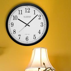 Small Crop Of Analog Digital Wall Clock