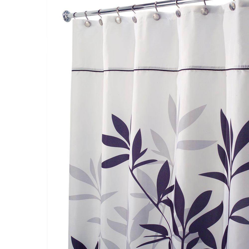 Nifty Interdesign Leaves Shower Curtain Shower Curtain Sizes Australia Shower Curtain Sizes Curved Rod Interdesign Leaves Shower Curtain Black Black houzz 01 Shower Curtain Sizes