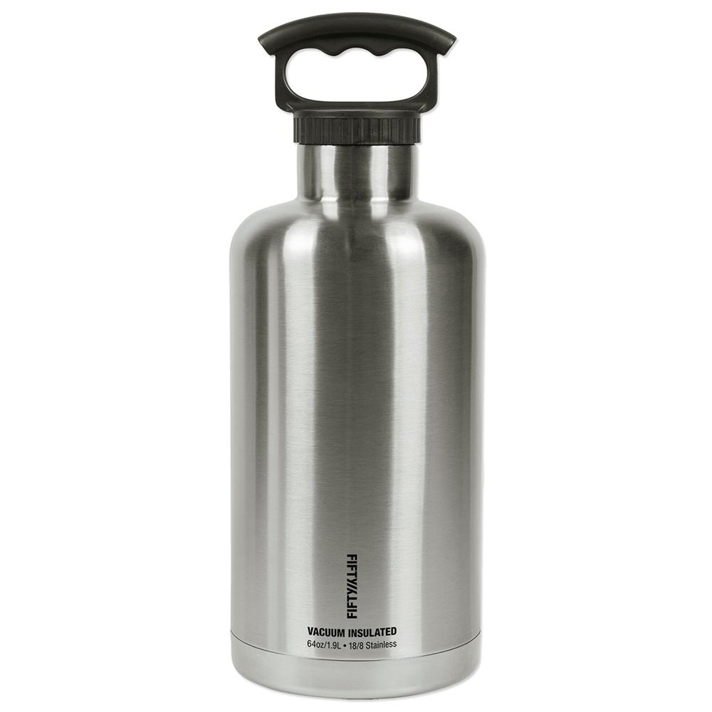 Impressive Sale Stainless Steel Growler Multi Fifty Fifty Beverage Jug Ers V65001ss0 64 1000 Stainless Steel Growlers Logo inspiration Stainless Steel Growler