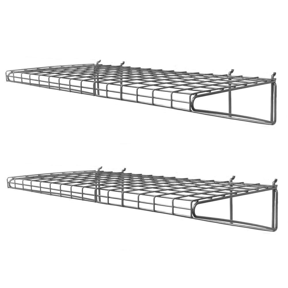 Encouragement W X D Ventilated Wire Shelf Pack Rhhomedepot Com Wall Mounted Wire Bracket Shelf Wall Mounted Wire Storageshelves Metal Wire Wall Mounted Shelf Wire Center Proslat H X houzz-02 Wall Mounted Wire Shelving