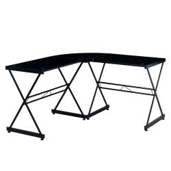 Small Crop Of Glass L Shaped Desk