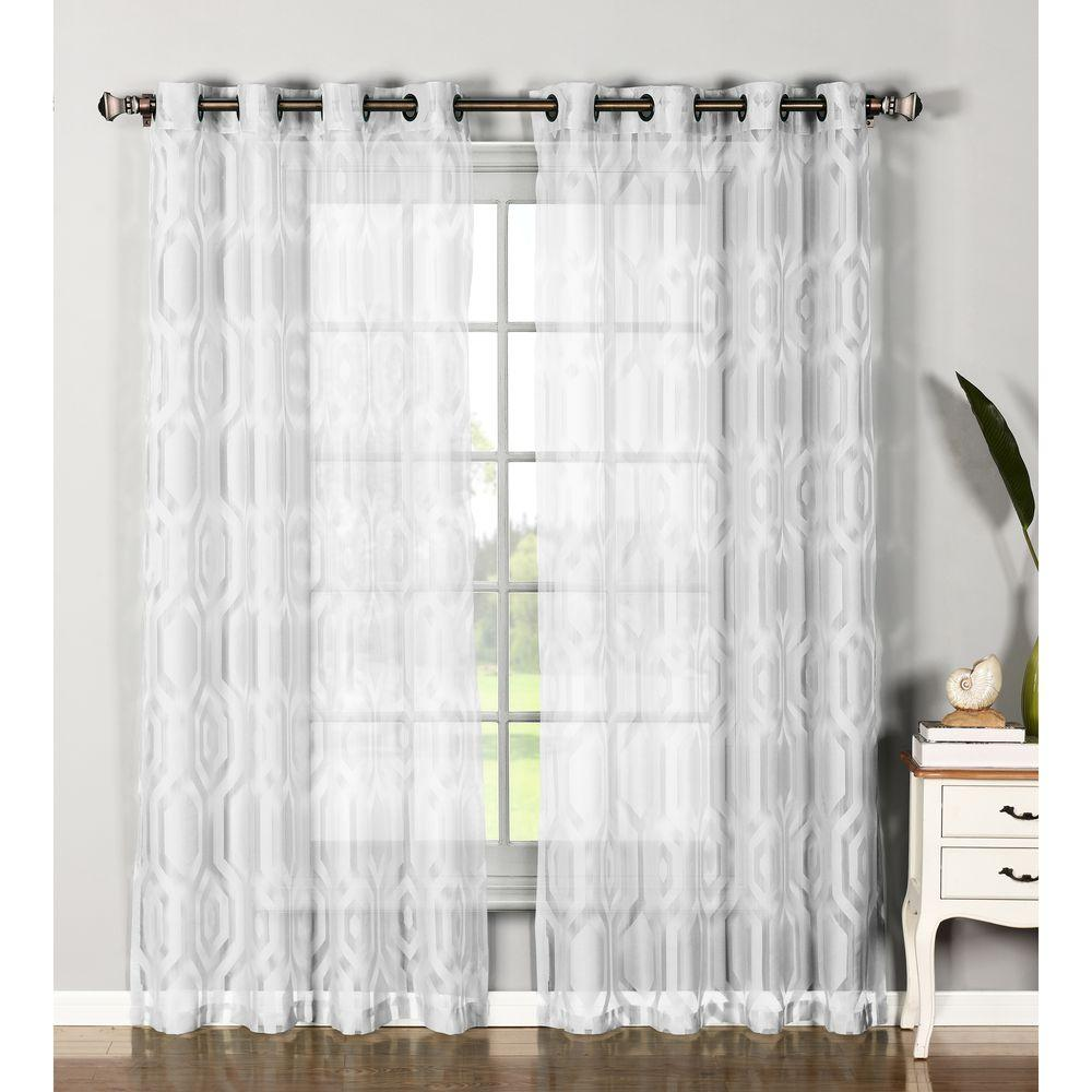 Assorted Window Elements Sheer Delta Cotton Blend Burnout Sheer Extra Wide Lgrommet Curtain Window Elements Sheer Delta Cotton Blend Burnout Sheer Extra Wide Sheer Curtains Ikea Sheer Curtains Amazon houzz-03 Sheer White Curtains