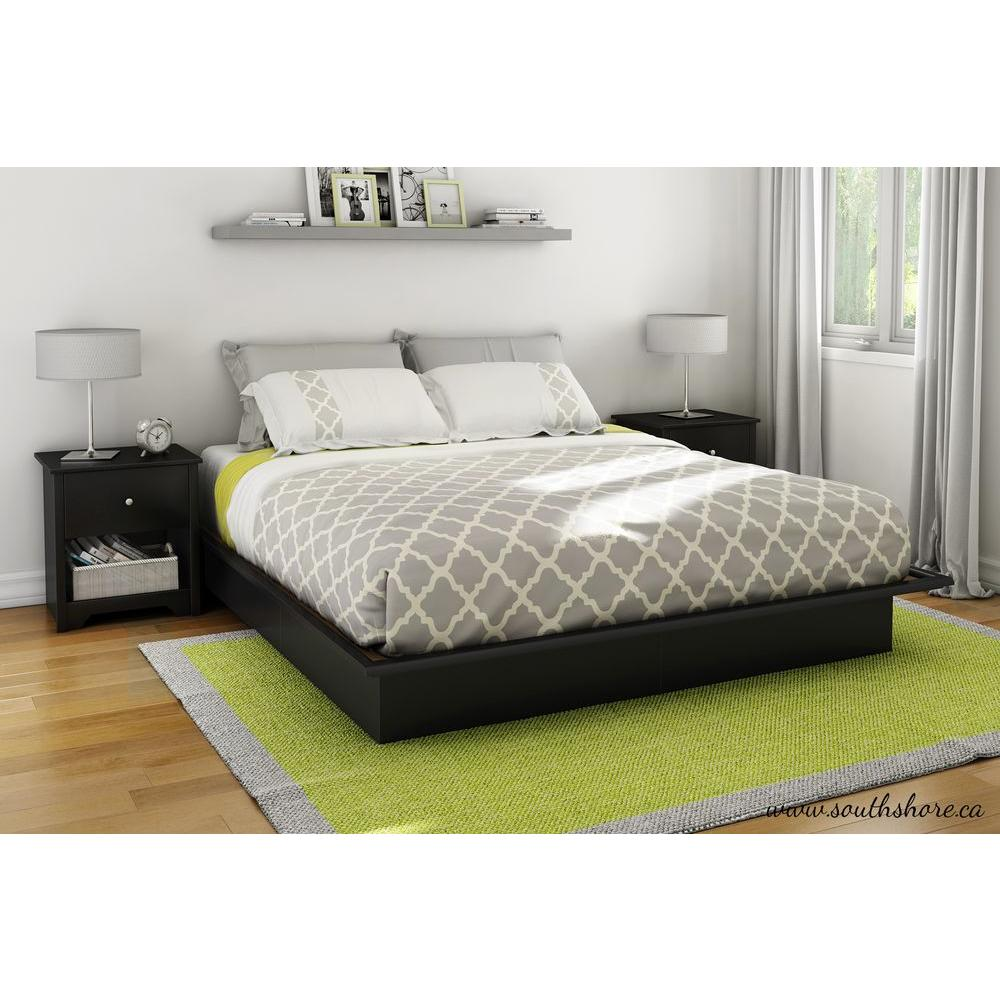 Assorted Pure Black South Shore Beds Headboards 3070248 64 1000 Full Size Platform Bed Full Size Platform Bed Walmart houzz-03 Full Size Platform Bed