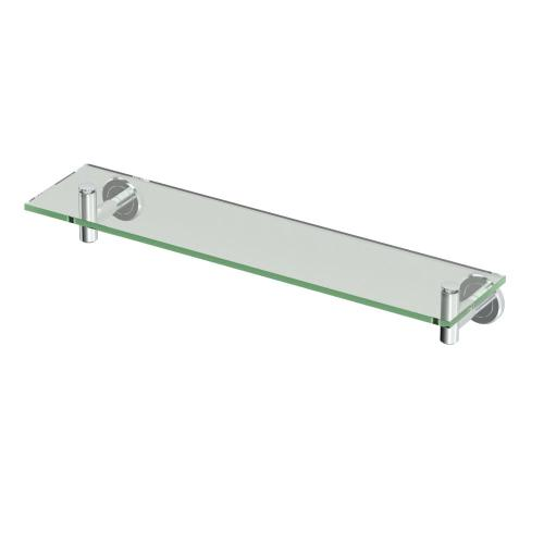 Beauteous Chrome Gatco Latitude Ii W Glass Shelf Shelf Ikea Single Bathroom Shelf W Glass Shelf Home Single Bathroom Vanity