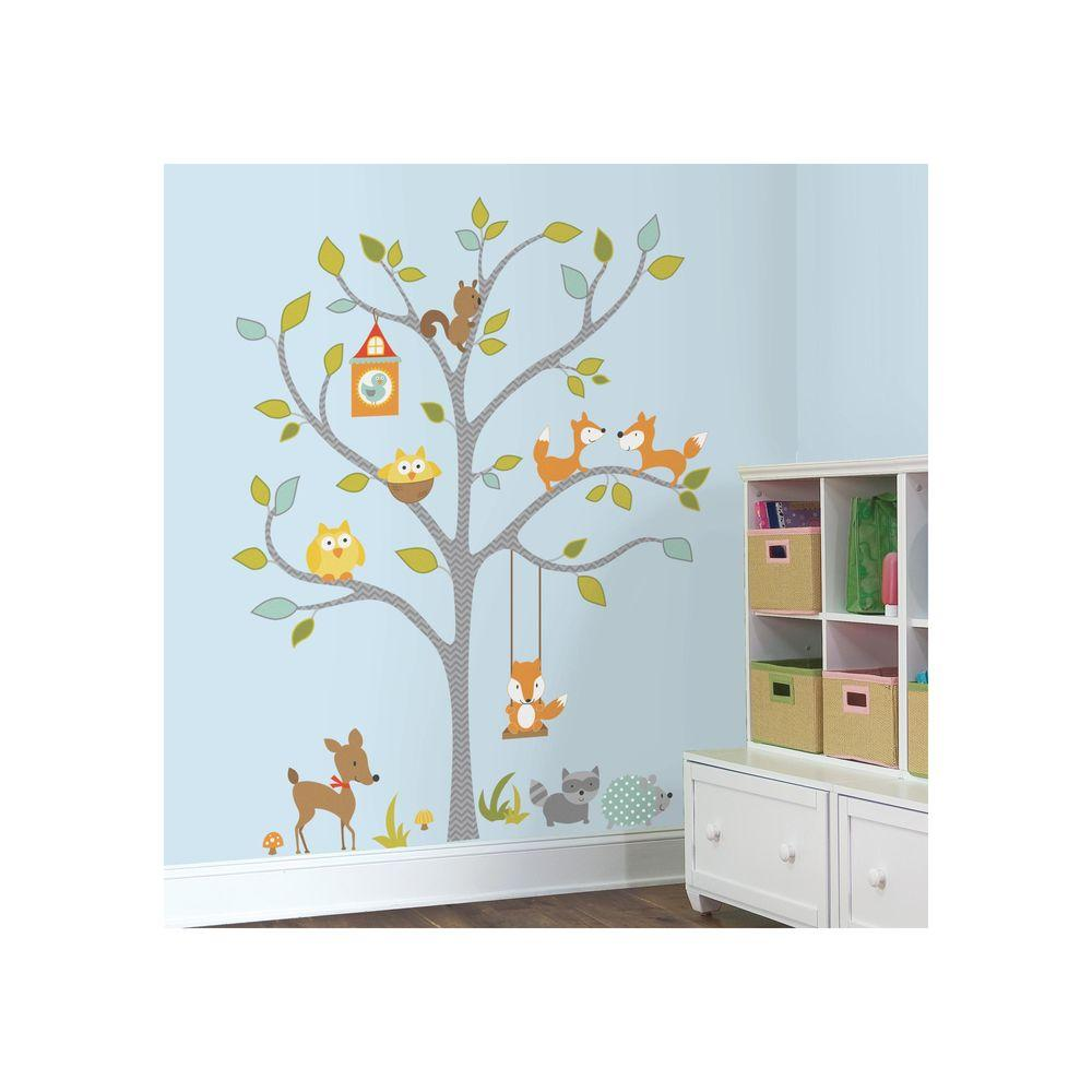 Remarkable Friends Tree Tree Wall Decal Woodland Fox Friends Tree Roommates X Woodland Fox Children S Room Tree Wall Decal Stickers baby Tree Wall Decal
