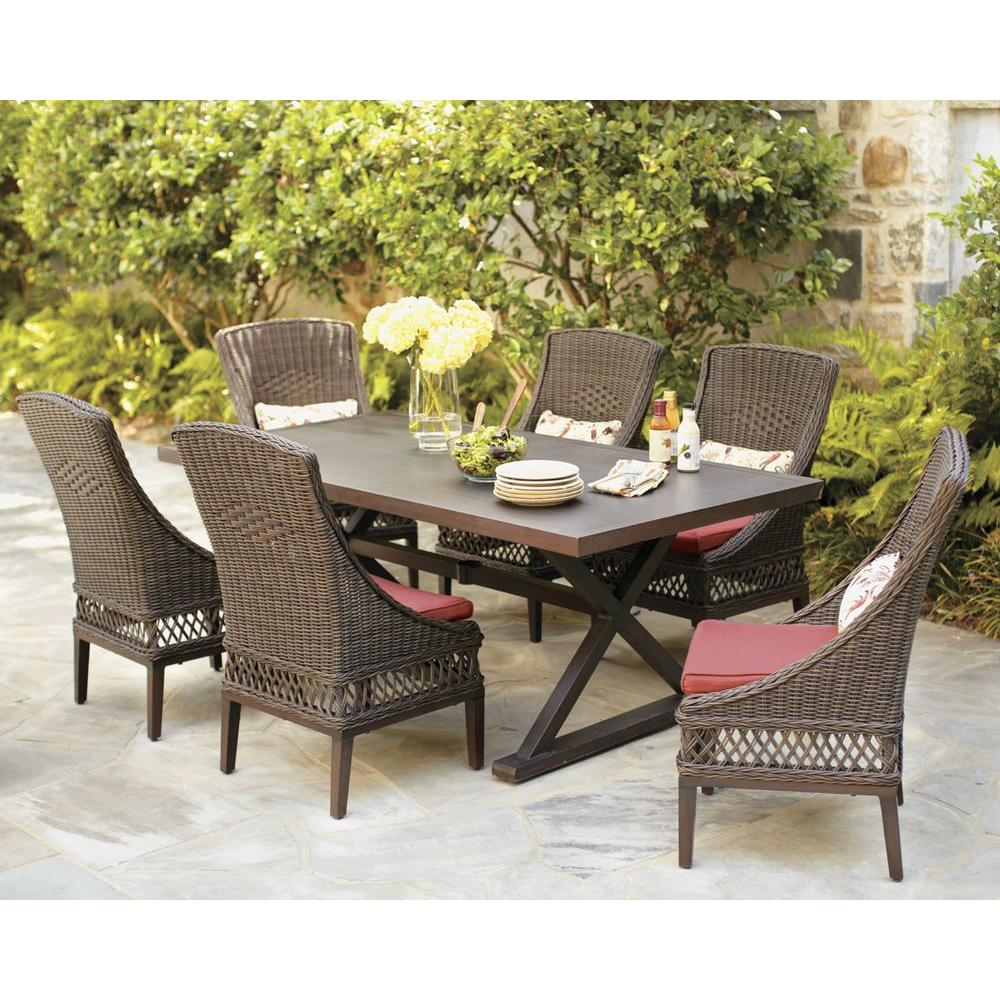 Astounding Texturedsand Home Depot Hampton Bay Woodbury Wicker Outdoor Patio Seating Set Hampton Bay Woodbury Wicker Outdoor Patio Seating Set Patio Furniture Cushions Patio Furniture Sales houzz-03 Best Patio Furniture