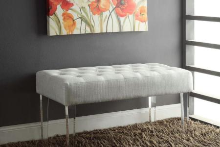 acrylic clear linon home decor bedroom benches 368261plat01 64 1000