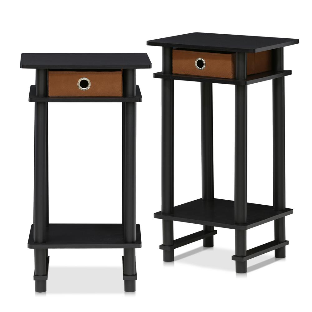 Traditional Brown Tall End Table Bin Furinno Espresso Furinno Espresso Bin Tall End Tables Bedroom Tall End Tables Canada Brown Tall End Table houzz-03 Tall End Tables