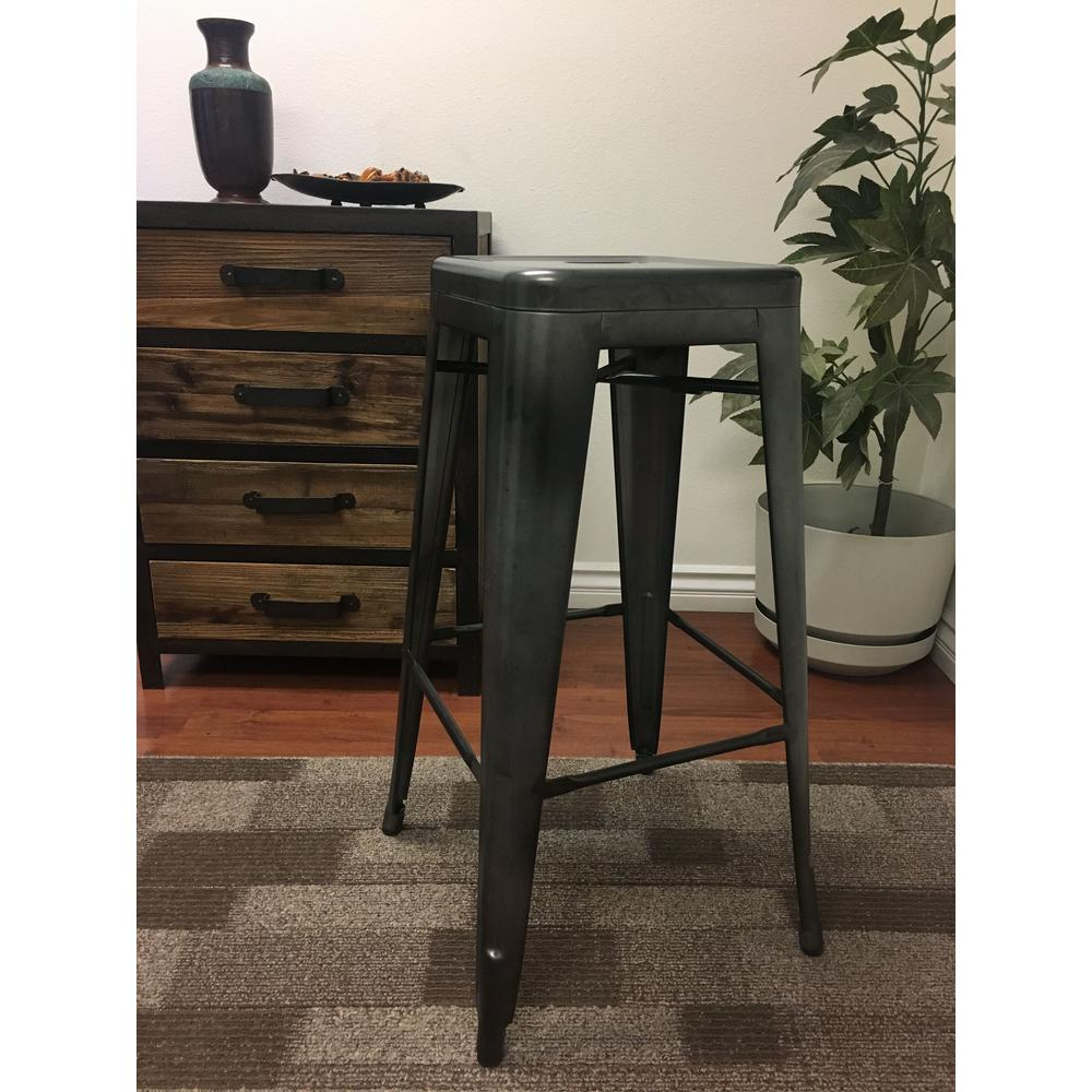 Dainty Lux Home Burnished Steel Metal Retro Bar Stool Retro Bar Stools Burnished Steel Metal Retro Bar Stool Arms Retro Bar Stools Blue houzz-03 Retro Bar Stools