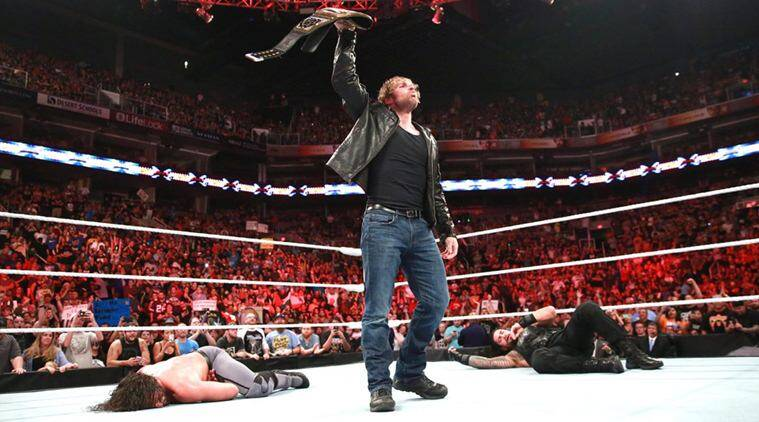 Image result for dean ambrose vs seth rollins heavyweight title 2016
