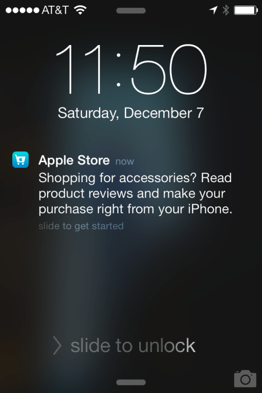 Notifications via un iBeacon dans l'Apple Store