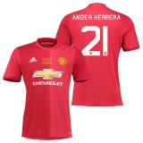 Manchester United EFL Cup Final Home Shirt 2016-17 with Herrera 21 printing