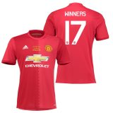 Manchester United EFL Cup Final Home Shirt 2016-17 with Winners 17 printing