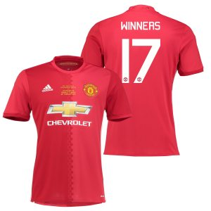 Manchester United EFL Cup Final Home Shirt 2016-17 with Winners 17