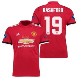 Manchester United Super Cup Final Home Shirt 2017-18 with Rashford 19 printing