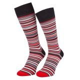 Manchester United x Paul Smith - Men's Red Narrow Striped Socks