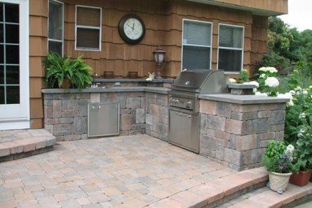block outdoor kitchen sitescapes landscape design 2256